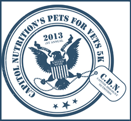 The Capitol Nutrition Pets For Vets 5k logo