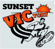 Sunset VIC-tory 5K run/walk logo
