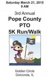 Pope County PTO 5K Run/Walk logo