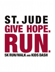 St. Jude Give Hope. Run. 5K logo
