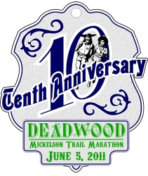 2011 Deadwood - Mickelson Trail Marathon logo