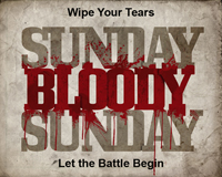 Sunday Bloody Sunday 5K logo