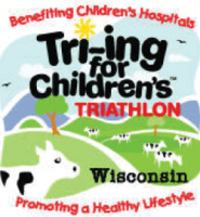 Tri~ing for Childrens Kids Triathlon - 2012 logo